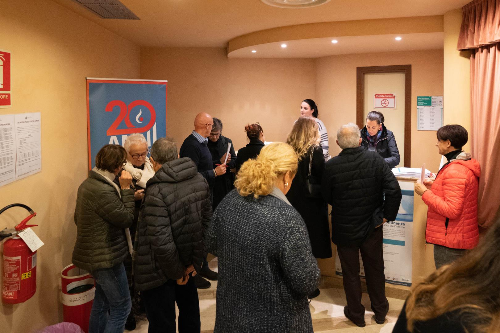 19 - Registrazione dei partecipanti - IL 2° LIBRO BIANCO DELL'INCONTINENZA - Seriate, 20.11.2019