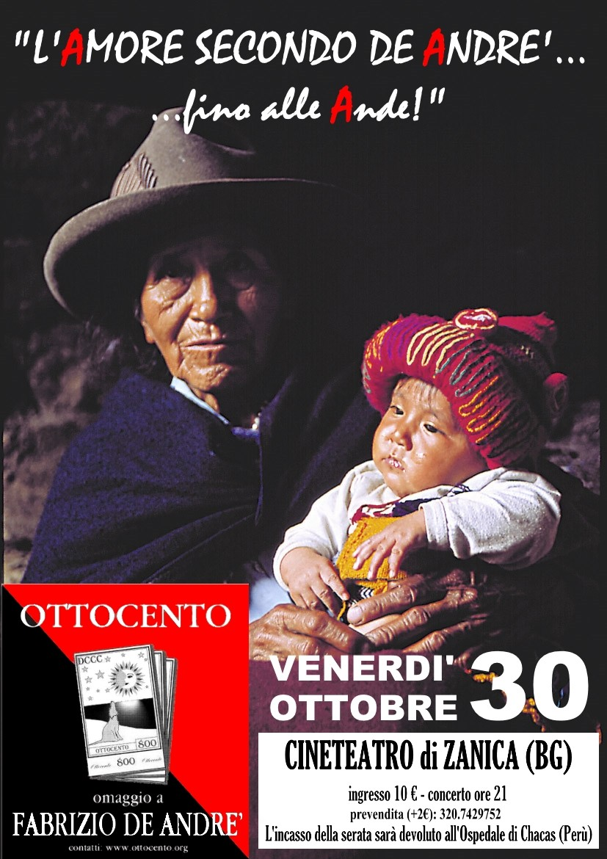 L'Amore secondo De André... fino alle Ande - Locandina concerto