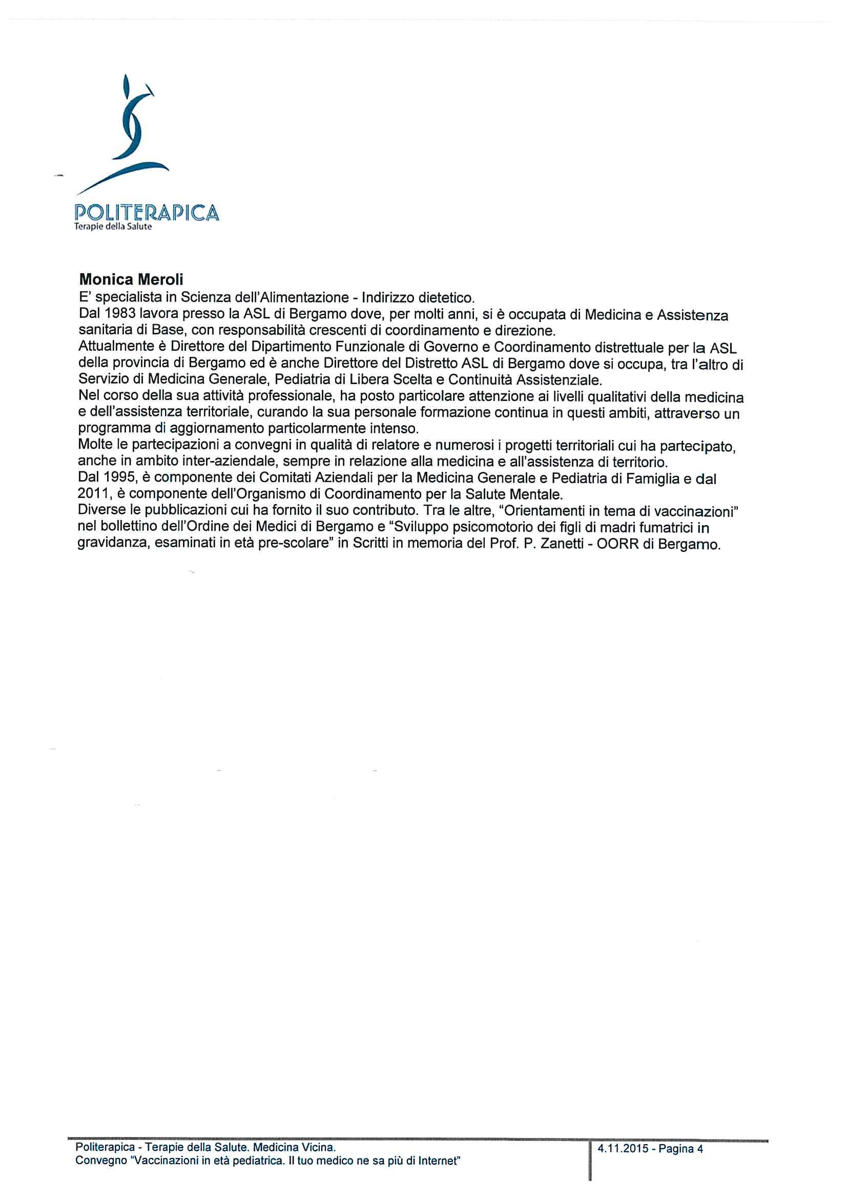 Convegno - Vaccinazioni in età pediatrica - Profilo relatori - 15.11.12 - 4