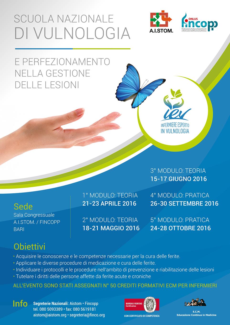 Scuola nazionale di vulnologia - Locandina