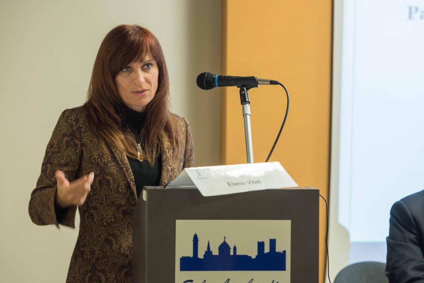 21.11.2015 - Bergamo, Convegno Vaccinazioni in età pediatrica - Interviene Elena Vitali