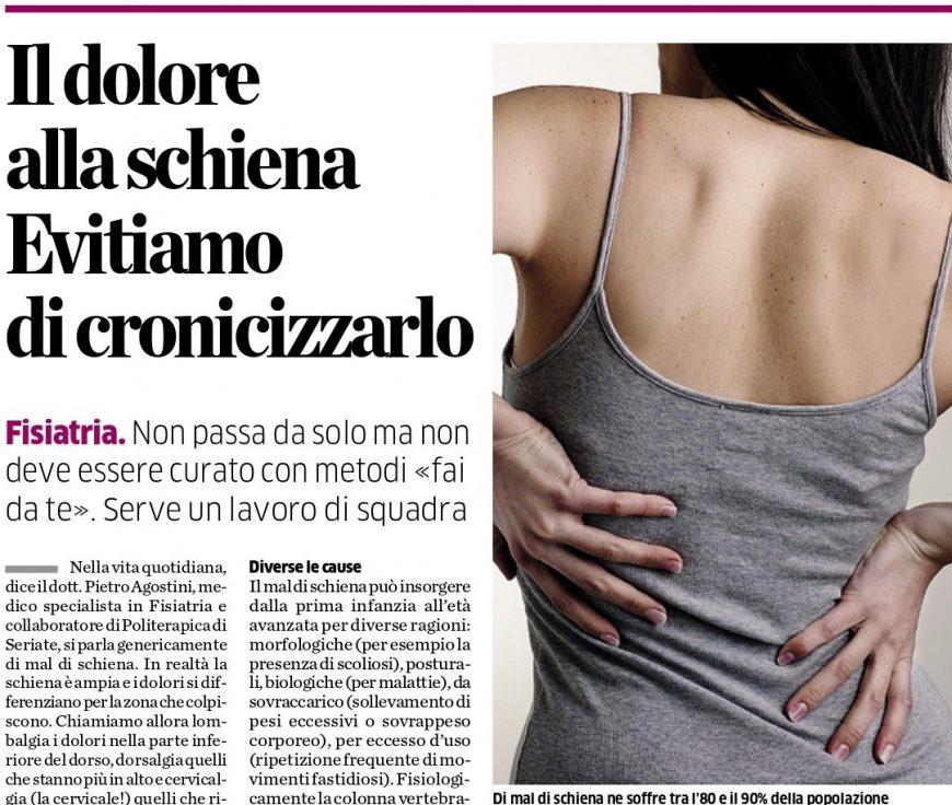 Il Dott. Agostini racconta il mal di schiena